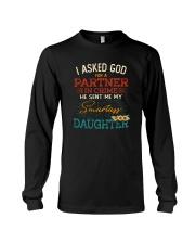 GOD SEND ME MY SMARTASS DAUGHTER Long Sleeve Tee thumbnail
