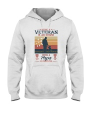 A VETERAN PAPA SI PRICELESS Hooded Sweatshirt tile