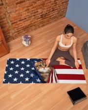 CAT FLAG Yoga Mat 70x24 (horizontal) aos-yoga-mat-lifestyle-19