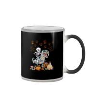 SKULL RIDE DINOSAUR HALLOWEEN Color Changing Mug thumbnail