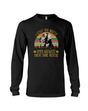 I LOVE BIG MUTTS UPPER MIDWEST GREAT DANE RESCUE Long Sleeve Tee thumbnail