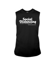 SOCIAL DISTANCING FOR THIS ALL MY LIFE Sleeveless Tee thumbnail