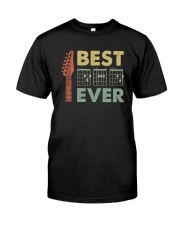 BEST MUSIC GUITAR DAD EVER Classic T-Shirt front