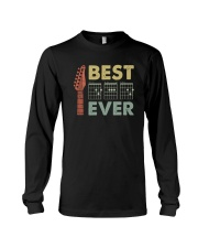 BEST MUSIC GUITAR DAD EVER Long Sleeve Tee thumbnail