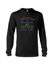 THE WICKED RUN WHEN NO ONE IS CHASING THEM Long Sleeve Tee thumbnail