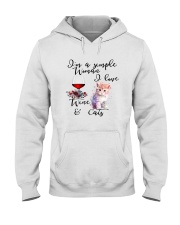 SIMPLE WOMAN LOVE WINE AND CATS Hooded Sweatshirt thumbnail