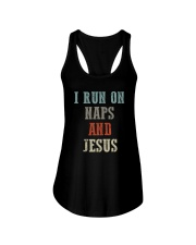 I RUN ON NAPS AND JESUS Ladies Flowy Tank thumbnail