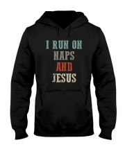 I RUN ON NAPS AND JESUS Hooded Sweatshirt thumbnail
