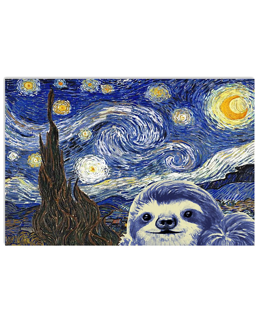STARRY NIGHT SLOTH 24x16 Poster