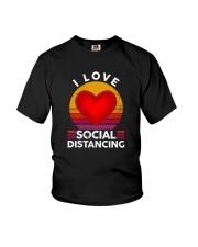 I LOVE SOCIAL DISTANCING 2 Youth T-Shirt thumbnail