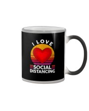 I LOVE SOCIAL DISTANCING 2 Color Changing Mug thumbnail