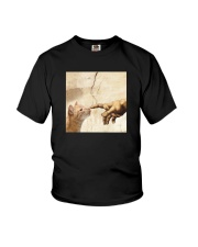 THE CREATION OF ADAM BROWN CAT Youth T-Shirt thumbnail