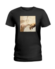 THE CREATION OF ADAM BROWN CAT Ladies T-Shirt thumbnail