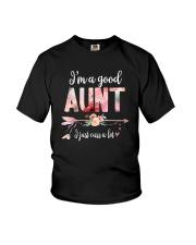 I'M A GOOD AUNT Youth T-Shirt thumbnail