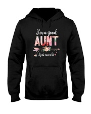 I'M A GOOD AUNT Hooded Sweatshirt thumbnail