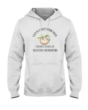 LAZY IS VERY STRONG WORD Hooded Sweatshirt thumbnail