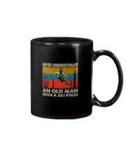 NEVER UNDERESTIMATE AN OLDMAN WITH SKI POLES Mug thumbnail