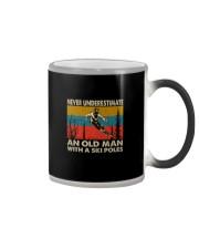 NEVER UNDERESTIMATE AN OLDMAN WITH SKI POLES Color Changing Mug thumbnail