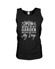 WORK IN MY GARDEN AND HANG OUT WITH MY DOGS Unisex Tank thumbnail