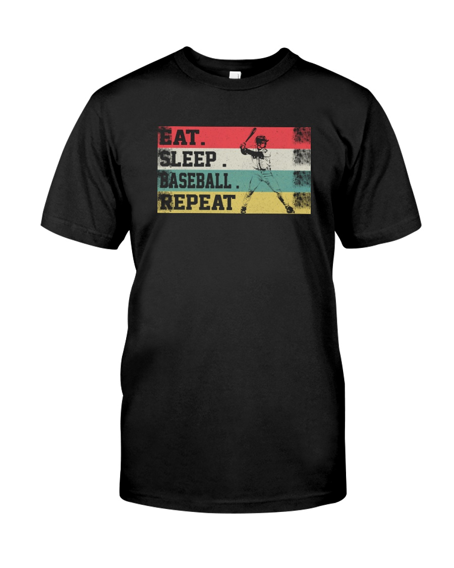 EAT SLEEP BASEBALL REPEAT Classic T-Shirt