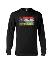 EAT SLEEP BASEBALL REPEAT Long Sleeve Tee thumbnail