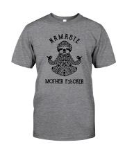 NAMASTE MOTHER FUCKER SLOTH YOGA Classic T-Shirt front
