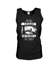 NATURE IS MY RELIGION AND THE EARTH IS MY CHURCH Unisex Tank thumbnail