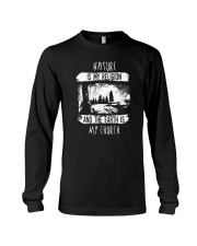 NATURE IS MY RELIGION AND THE EARTH IS MY CHURCH Long Sleeve Tee thumbnail