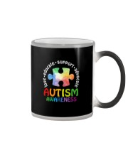 LOVE EDUCATE SUPPORT ADVOCATE Color Changing Mug thumbnail