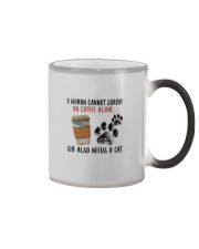 WOMAN SURVIVE ON COFFEE AND A DOG Color Changing Mug thumbnail