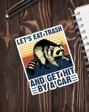 LET'S EAT TRASH NAD GET HIT BY A CAR VINTAGE Sticker - Single (Vertical) aos-sticker-single-vertical-lifestyle-front-05