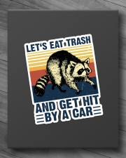 LET'S EAT TRASH NAD GET HIT BY A CAR VINTAGE Sticker - Single (Vertical) aos-sticker-single-vertical-lifestyle-front-10