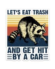 LET'S EAT TRASH NAD GET HIT BY A CAR VINTAGE Sticker - Single (Vertical) front