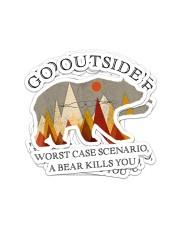 GO OUTSIDE BEAR Sticker - 4 pack (Vertical) front