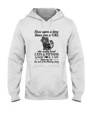A Girl Who Really Loved CATs And Tattoos Hooded Sweatshirt thumbnail
