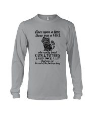 A Girl Who Really Loved CATs And Tattoos Long Sleeve Tee thumbnail
