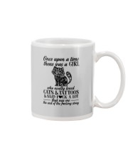 A Girl Who Really Loved CATs And Tattoos Mug tile