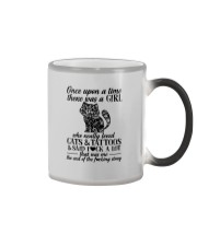 A Girl Who Really Loved CATs And Tattoos Color Changing Mug thumbnail