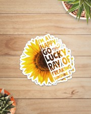 I'M A HAPPY GO LUCKY RAY OF FREAKING SUNSHINE Sticker - 4 pack (Vertical) aos-sticker-4-pack-vertical-lifestyle-front-07