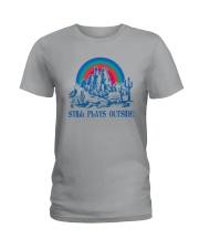 STILL PLAYS OUTSIDE CACTUS MOUNTAINS Ladies T-Shirt thumbnail