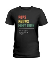 POPS KNOWS EVERYTHING Ladies T-Shirt thumbnail