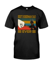 BEST  Doberman DAD EVER Classic T-Shirt front
