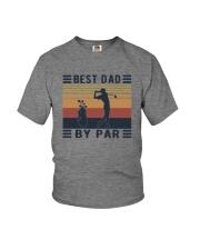BEST DAD BY PAR GOLF Youth T-Shirt thumbnail