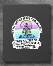 I'M MOSTLY PEACE LOVE AND LIGHT YOGA GIRL Sticker - 4 pack (Vertical) aos-sticker-4-pack-vertical-lifestyle-front-10