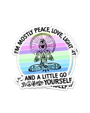 I'M MOSTLY PEACE LOVE AND LIGHT YOGA GIRL Sticker - 4 pack (Vertical) front