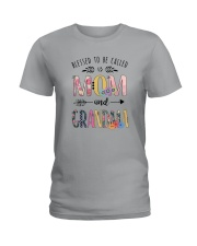 BLESSED TO BE CALLED MOM AND GRANDMA Ladies T-Shirt thumbnail
