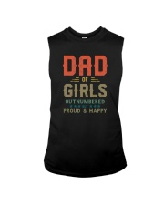 DAD OF GIRLS OUTNUMBERED BUT PROUD AND HAPPY Sleeveless Tee thumbnail