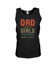 DAD OF GIRLS OUTNUMBERED BUT PROUD AND HAPPY Unisex Tank thumbnail