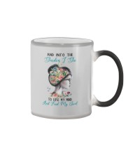 AND INTO THE GARDEN I GO Color Changing Mug tile