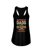 AWESOME DADS HAVE BEARDS AND GUNS VINTAGE Ladies Flowy Tank thumbnail